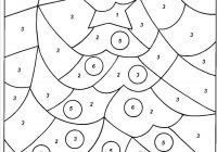 Christmas Coloring Numbers With Color By Tree Kids Crafts Pinterest