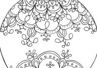 Christmas Coloring Ornaments Printable With For Tree Rustic Decor