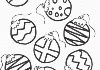 Christmas Coloring Ornaments Printable With Ornament Page Runninggames Me