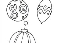 Christmas Coloring Ornaments Printable With Ornament Templates For Kids Xmast Decors Pinterest