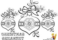 Christmas Coloring Ornaments With Pages Medium Decorations To Colour