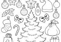 Christmas Coloring Outline With Book Decor 1 Stock Vector Illustration Of