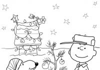 Christmas Coloring Outline With Charlie Brown Page Free Printable Pages