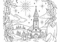 Christmas Coloring Page Instant download Adult Coloring Christian ..
