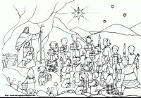 Christmas Coloring Pages Baby Jesus With In A Manger Collection Play Learn