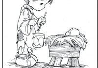 Christmas Coloring Pages Baby Jesus With Kids Page Precious Moments Little Drummer Boy