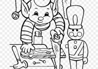 Christmas Coloring Pages Black And White With Printable Activity Elves In Elf