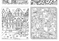 Christmas Coloring Pages Booklet With Free Adult U Create