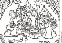 Christmas Coloring Pages Christian With 35 Unique DEVSQ Net