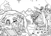 Christmas Coloring Pages Christian With For Kids Preschool Pinterest