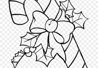 Christmas Coloring Pages Clip Art With Candy Cane