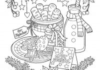 Christmas Coloring Pages Cookies With Milk And Page
