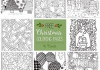 Christmas Coloring Pages Crafts With Free Craft Printables Unique 41