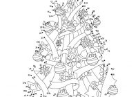 Christmas Coloring Pages Dot To With 24 Free Printable Worksheets For Kids