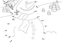 Christmas Coloring Pages Dot To With Snowman For Xmas Printable Connect The Dots Game And