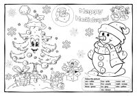 Christmas Coloring Pages Esl With Colouring 1 Worksheet Free ESL Printable Worksheets
