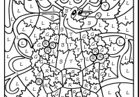 Christmas Coloring Pages For 4th Grade With Color By Number Adult 5b27ea8792cac Nazly Me