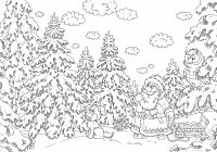 Christmas Coloring Pages For Adults Free With Difficult Gallery