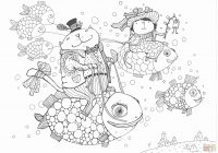 Christmas Coloring Pages For Adults Online With Free Flowers Disney 21