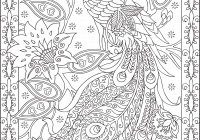 Christmas Coloring Pages For Adults Online With Peacock Feather Colouring Adult Detailed Advanced