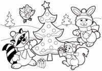 Christmas Coloring Pages, Free Christmas Coloring Pages for Kids – Christmas Coloring Full Page