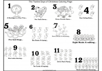Christmas Coloring Pages Games With 28 Collection Of 12 Days High Quality