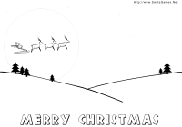 Christmas Coloring Pages Games With Merry SantaGames Net