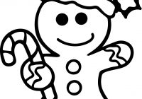 Christmas Coloring Pages Gingerbread Man With Download Free Books
