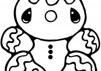 Christmas Coloring Pages Gingerbread Man With Free