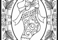 Christmas Coloring Pages Hard With Difficult Printable Page For Kids