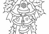 Christmas Coloring Pages Holly Leaves With Leaf Books