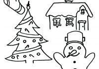 Christmas Coloring Pages Kindergarten With Holiday For