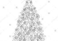 Christmas Coloring Pages Large With Tree Balls Awesome 18fresh