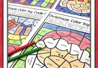 Christmas Coloring Pages Middle School With Parts Of Speech Color By Number Teaching