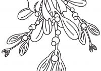 Christmas Coloring Pages Mistletoe With Best For Kids