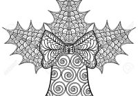 Christmas Coloring Pages Mistletoe With Decorative Bell And
