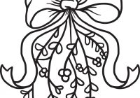 Christmas Coloring Pages Mistletoe With FREE Printable Page For Kids 2 SupplyMe