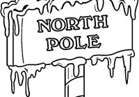 Christmas Coloring Pages North Pole With Printables Minc Pinterest