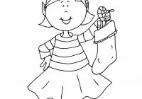 Christmas Coloring Pages Of Elves With Cartoon Xmas To Print Sheets