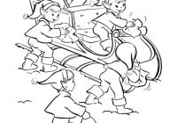 Christmas Coloring Pages Of Elves With Cute Elf
