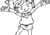 Christmas Coloring Pages Of Elves With Elf On The Shelf Printable