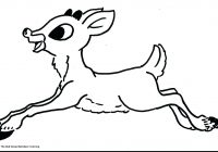 Christmas Coloring Pages Of Rudolph The Red Nosed Reindeer With Printable Free