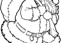 Christmas Coloring Pages Of Santa With Printable