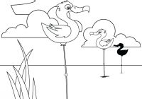 Christmas Coloring Pages Online Printable With Monday Glamorous Bird Free Swan Flamingo