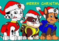 Christmas Coloring Pages Paw Patrol With Ecards Pinterest