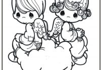 Christmas Coloring Pages Precious Moments With Free Printable For Kids