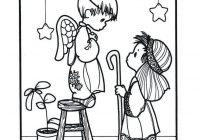 Christmas Coloring Pages Precious Moments With Play Sheet