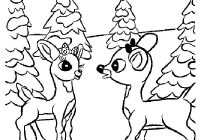 Christmas Coloring Pages Rudolph With Comet And Hellokids Com