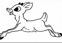 Christmas Coloring Pages Rudolph With The Red Nosed Reindeer To Print Free