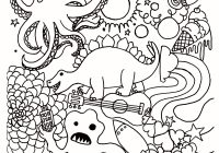 Christmas Coloring Pages Santa And Reindeer With Page 8